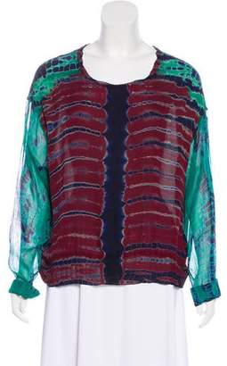 Raquel Allegra Silk Long Sleeve Top