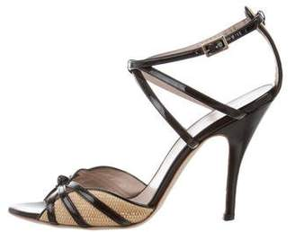 Salvatore Ferragamo Patent Leather Cutout Sandals
