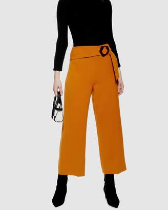 Topshop Cropped Buckle Trousers