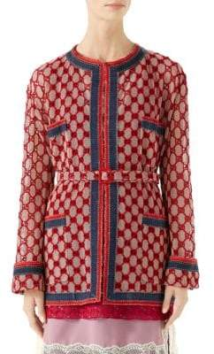 Gucci GG Macrame Oversized Jacket