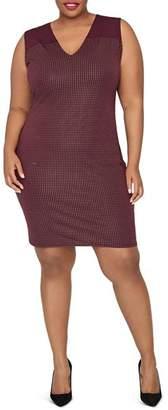 Rachel Roy Plus Callie Sleeveless V-Neck Dress