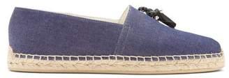 Christian Louboutin Papiougomme Tassel Embellished Denim Espadrilles - Mens - Blue