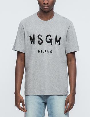 MSGM Brush Strokes MSGM Logo T-Shirt $75 thestylecure.com