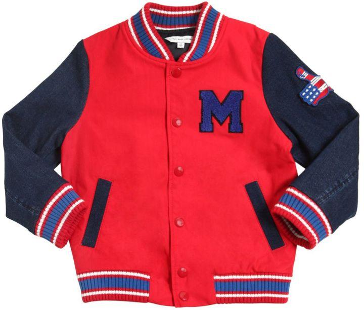 Little Marc JacobsCotton Gabardine & Denim Bomber Jacket