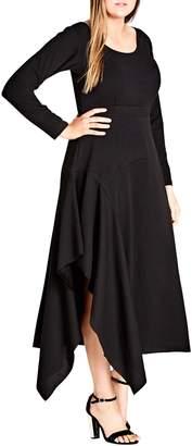 City Chic Marvel Asymmetrical Maxi Dress