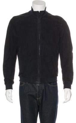 Armani Collezioni Suede Blouson Bomber Jacket w/ Tags