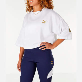 Puma Women's Retro Crop Shirt