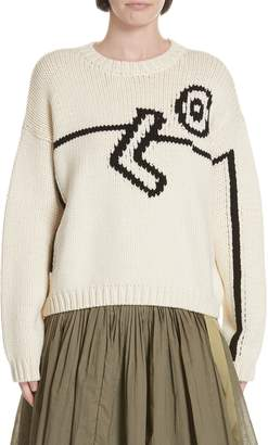 Tory Burch Oversize Intarsia Sweater