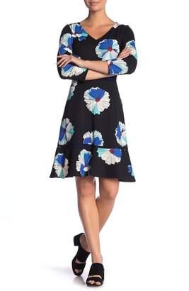 Taylor V-Neck Floral Fit & Flare Dress