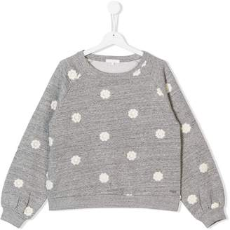 Chloé TEEN floral patch sweatshirt