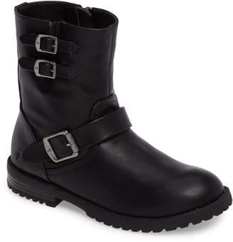 Frye Veronica Buckle-Strap Engineer Boot