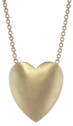 Irene Neuwirth Extra Large Flat Heart Necklace - Rose Gold