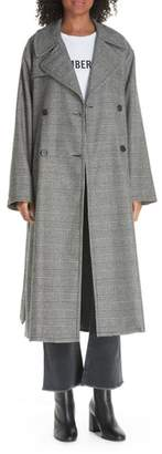 Nili Lotan Topher Plaid Wool Blend Coat