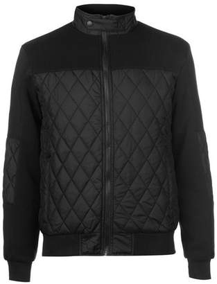 Pierre Cardin Mens Lightweight Diamond Quilted Bomber Jacket with Fleece Trim (2XL, )