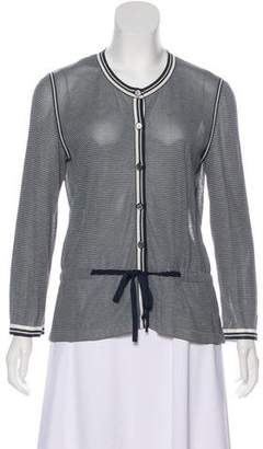 Chanel Striped Belted Cardigan