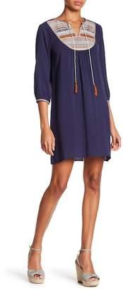 THML Embroidered Bib Peasant Dress