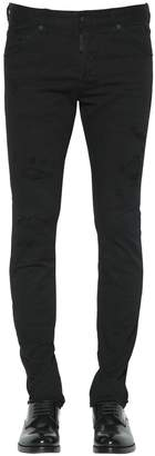 DSQUARED2 17.5cm Slim Jean Fit Cotton Denim Jeans