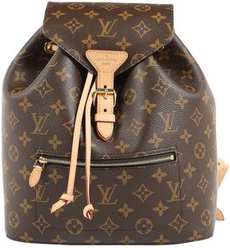 Louis Vuitton Montsouris Brown Leather Backpacks