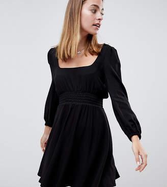 Asos DESIGN Petite square neck skater mini dress