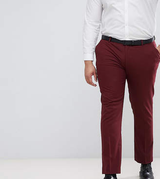 Asos Design DESIGN Plus Skinny Tuxedo Suit Pants In Dark Burgundy