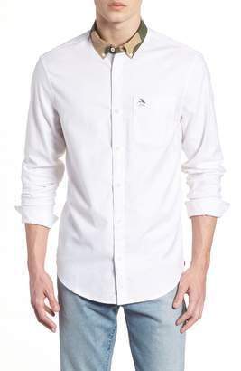 Original Penguin Camo Collar Oxford Shirt