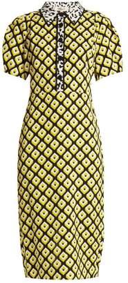 Diane von Furstenberg Elly Crepe Midi Dress - Womens - Yellow Print