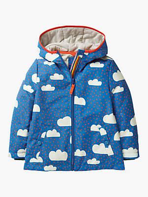 Boden Mini Girls' Jersey Lined Anorak, Blue