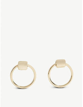 BaubleBar Rayne front-facing gold-plated hoop earrings