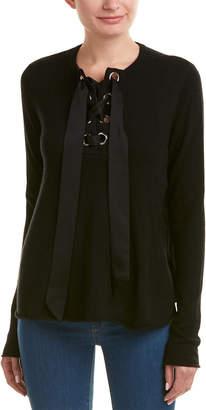 Autumn Cashmere Silk-Trim Sweater