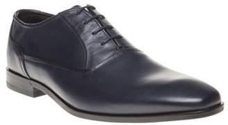 HUGO New Mens Blue Square Oxfr Lt Leather Shoes Slip On