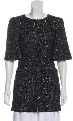 Chanel Sequin-Embellished Crew Neck Tunic Black Sequin-Embellished Crew Neck Tunic