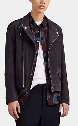 Paul Smith Men's Suede Moto Jacket - Gray