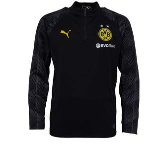 Puma Junior Boys BVB Borussia Dortmund 1/4 Zip Top Black