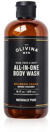Olivina MEN All-in-One Body Wash - Bourbon Cedar