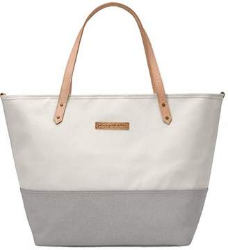 Petunia Pickle Bottom Downtown Tote Baby Changing Bag with Change Mat and Wipes Case - Birch/Stone