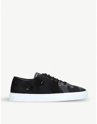 Valentino Camouflage-print mixed-leather trainers
