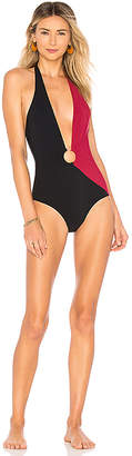 Diane von Furstenberg O Ring Cheeky Plunge One Piece