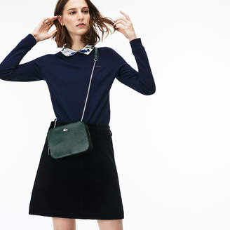 Lacoste Women's Chantaco Christmas Square Pique Leather Shoulder Bag