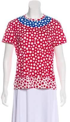 Louis Vuitton Polka Dot Short Sleeve Top