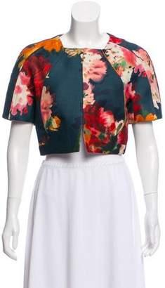 J. Mendel Silk Floral Cropped Jacket