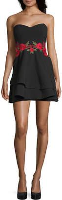 B. Darlin Bee Darlin Bee Smart Sleeveless Applique Party Dress-Juniors