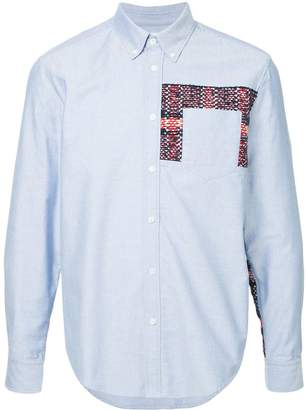 Coohem checked tweed shirt