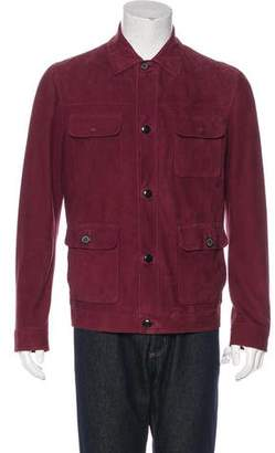 Lanvin Leather Satin-Lined Jacket w/ Tags