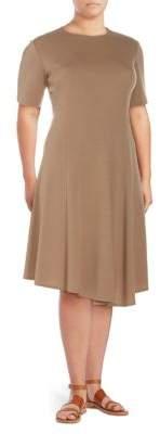 Lafayette 148 New York Plus Aveena Wool Knee-Length Dress