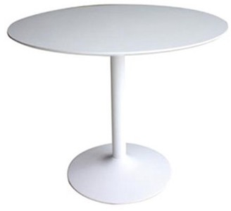 Mid-Century MODERN Coaster Company Lowry Round Dining Table, White