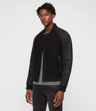 AllSaints Elton Leather Bomber Jacket