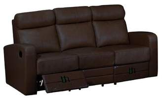 Hokku Designs Leather Leather Reclining Sofa