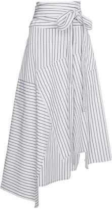 J.W.Anderson striped asymmetrical midi skirt