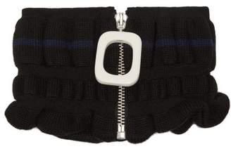 J.W.Anderson Zipped Wool Blend Snood - Womens - Black