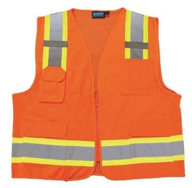 Portwest US380 Large Hi-Visibility Tampa Mesh Vest, Orange - Regular